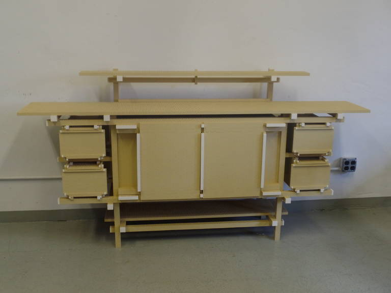 Bauhaus Important, Unique 'Rietveld ' Lego Sideboard by Minale-Maeda for Droog Design For Sale