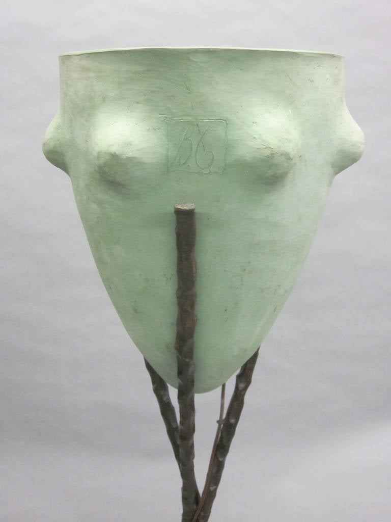 Rare French 'New Barbarians' Floor Lamp or Sculpture by Garouste & Bonetti, 1980 In Good Condition For Sale In New York, NY