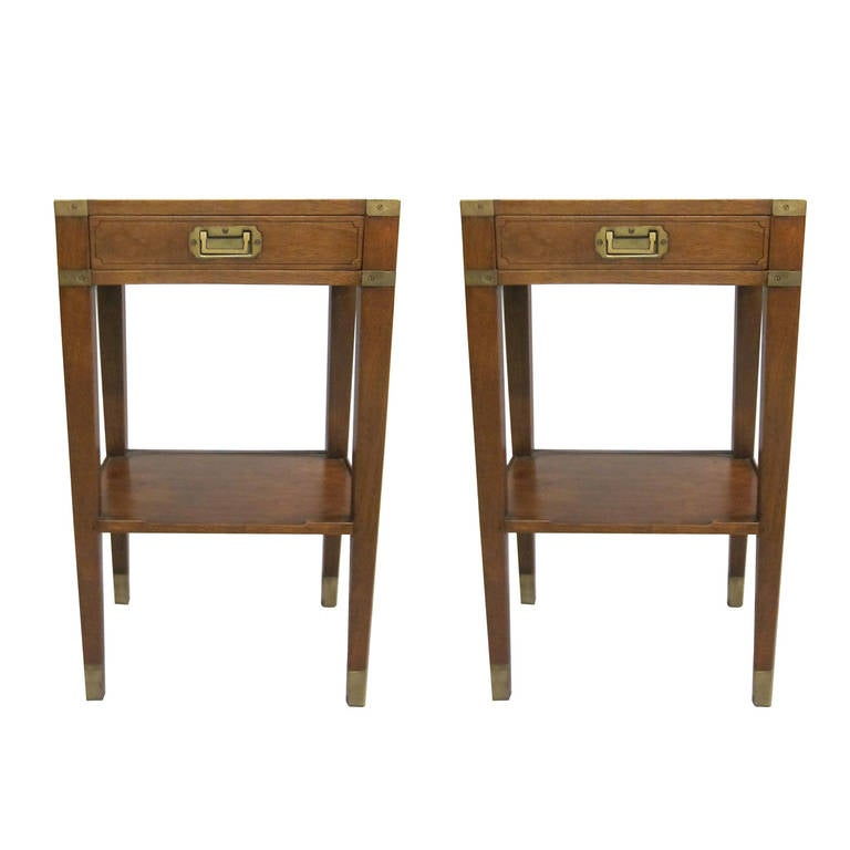 Pair of French MId-Century Style 'Marine' End Tables or Nightstands 1