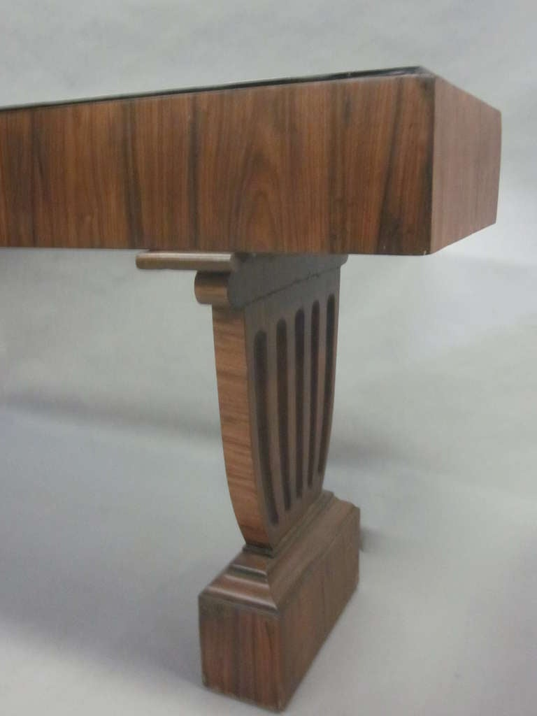 20th Century Large French Mid-Century Modern Neoclassical Wood Console / Sofa Table For Sale