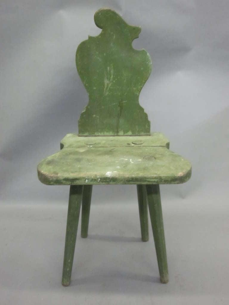 Wood Four Italian Futurist 'Sgabello' Chairs or Stools For Sale