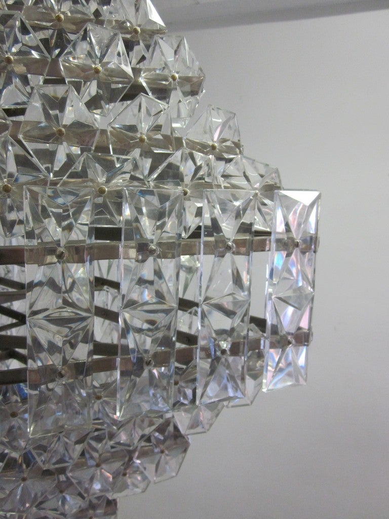 Extraordinary Large Crystal Chandelier In The Style Of
