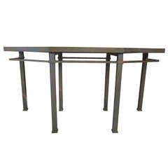 Large French Mid-Century Modern Bronze Console by Guy Lefevre for Maison Jansen