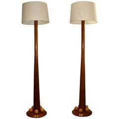 Pair of Orb Based Floor Lamps