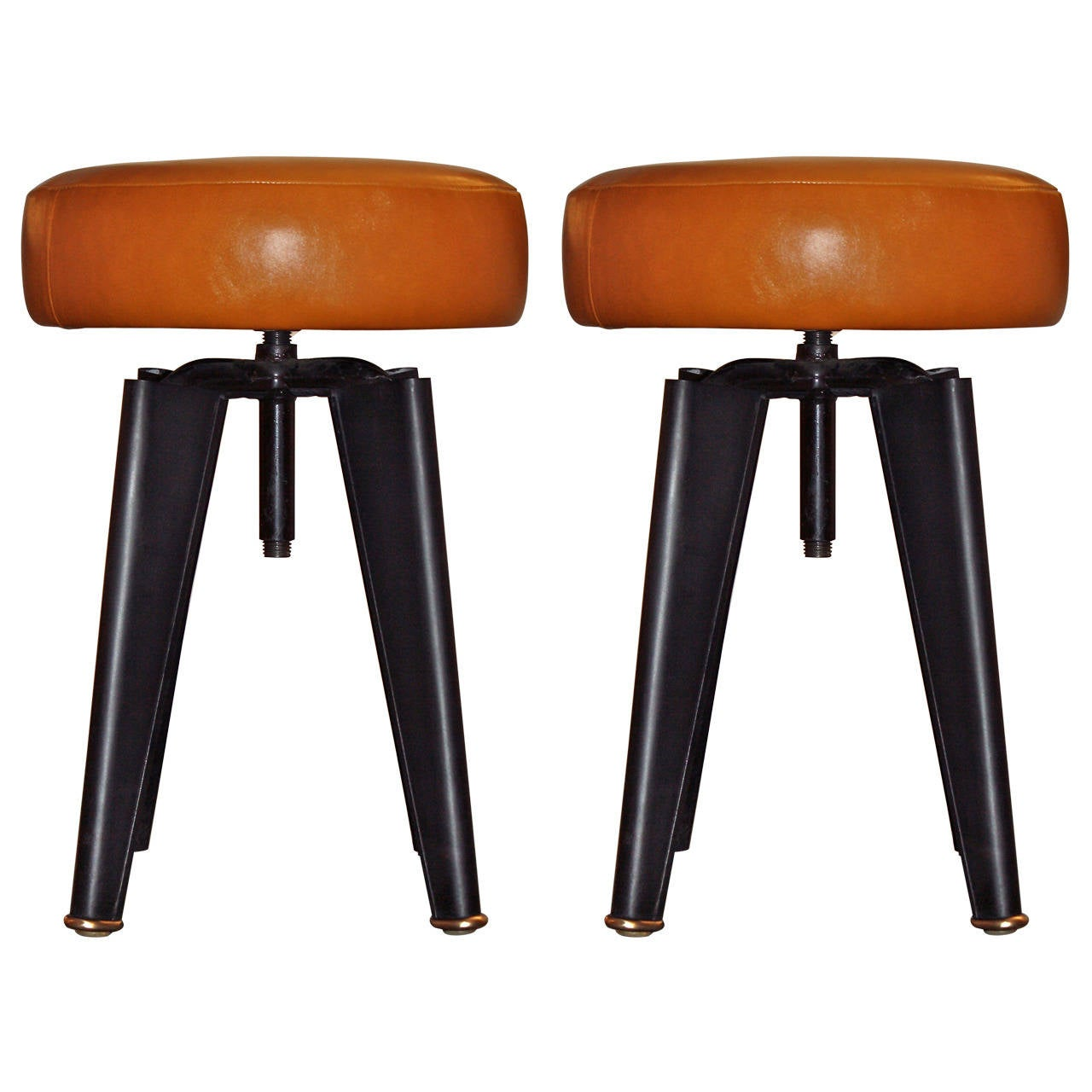 Pair of Piano Stools by Dominique for the Clemenceau Aircraft Carrier 1