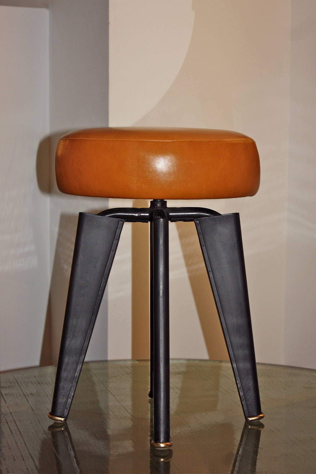 Pair of Piano Stools by Dominique for the Clemenceau Aircraft Carrier 3