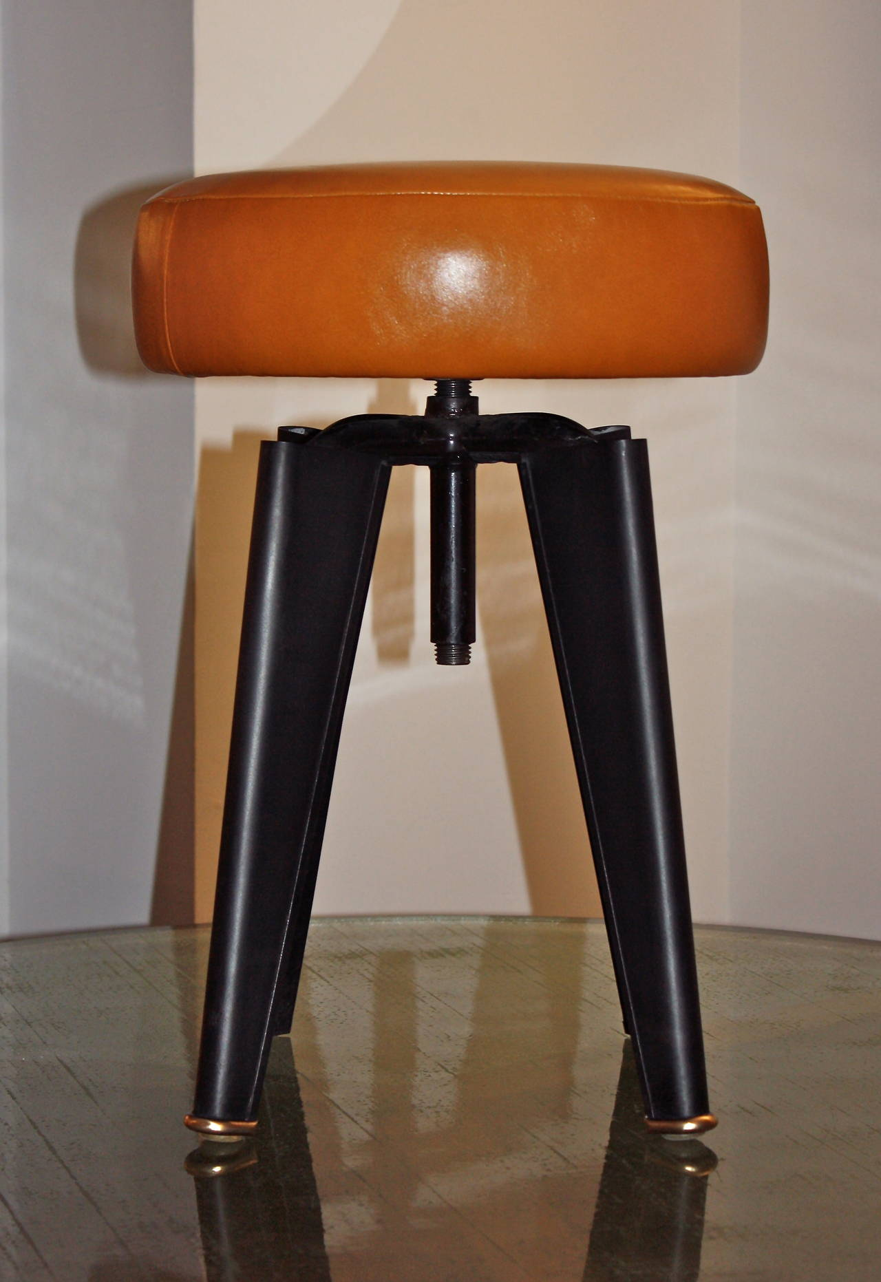 Pair of Piano Stools by Dominique for the Clemenceau Aircraft Carrier 2