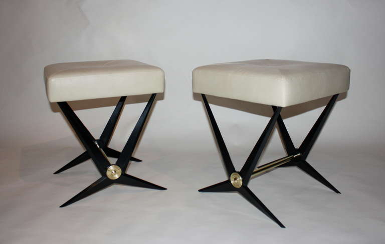 French Pair of Jacques Tournus Benches For Sale