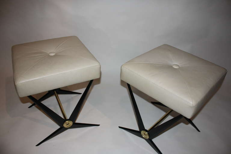 Pair of Jacques Tournus Benches In Excellent Condition For Sale In New York, NY