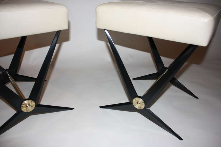 Mid-20th Century Pair of Jacques Tournus Benches For Sale