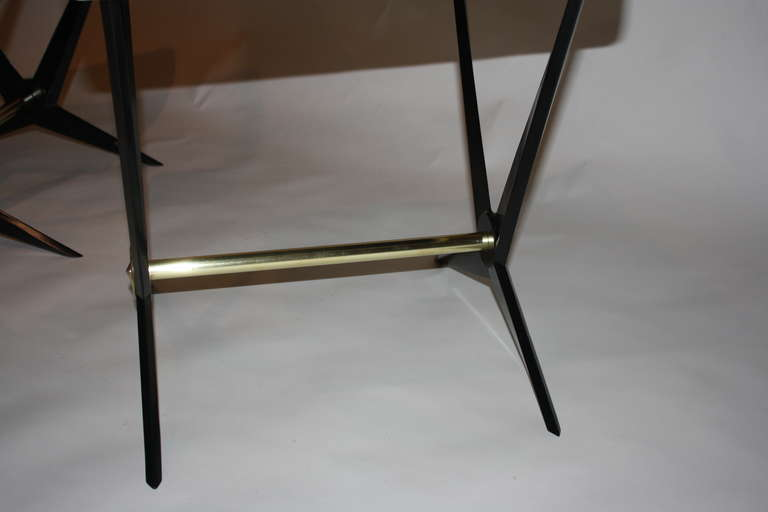 Brass Pair of Jacques Tournus Benches For Sale