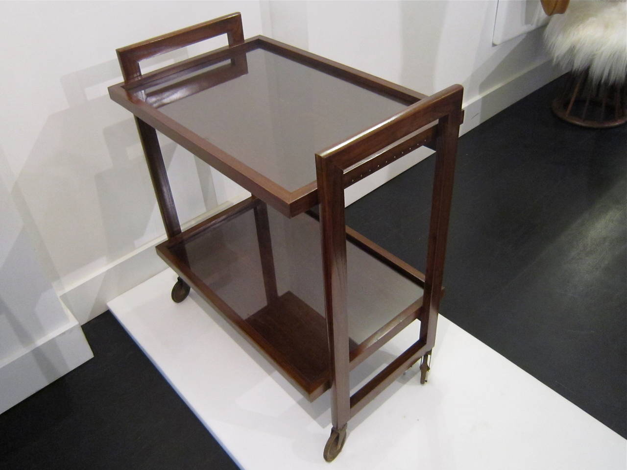 Andre Sornay Bar Cart In Excellent Condition For Sale In New York, NY