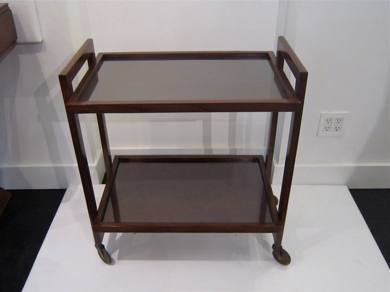 Brass Andre Sornay Bar Cart For Sale