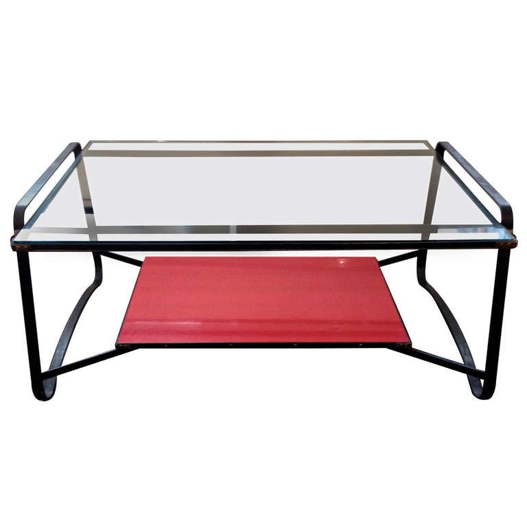 Jacques Adnet Two Tiered Table For Sale