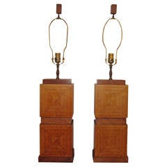Two-Tone Cubist Lamps