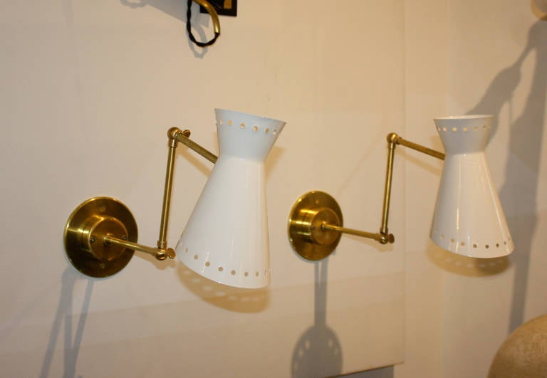 Pair of Italian Sconces In Excellent Condition For Sale In New York, NY