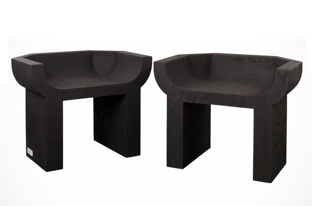 Rick Owens Noir Curial Chairs At 1stdibs