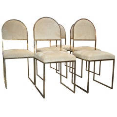 Italian 1960s Set of Eight Chairs by Mario Botta
