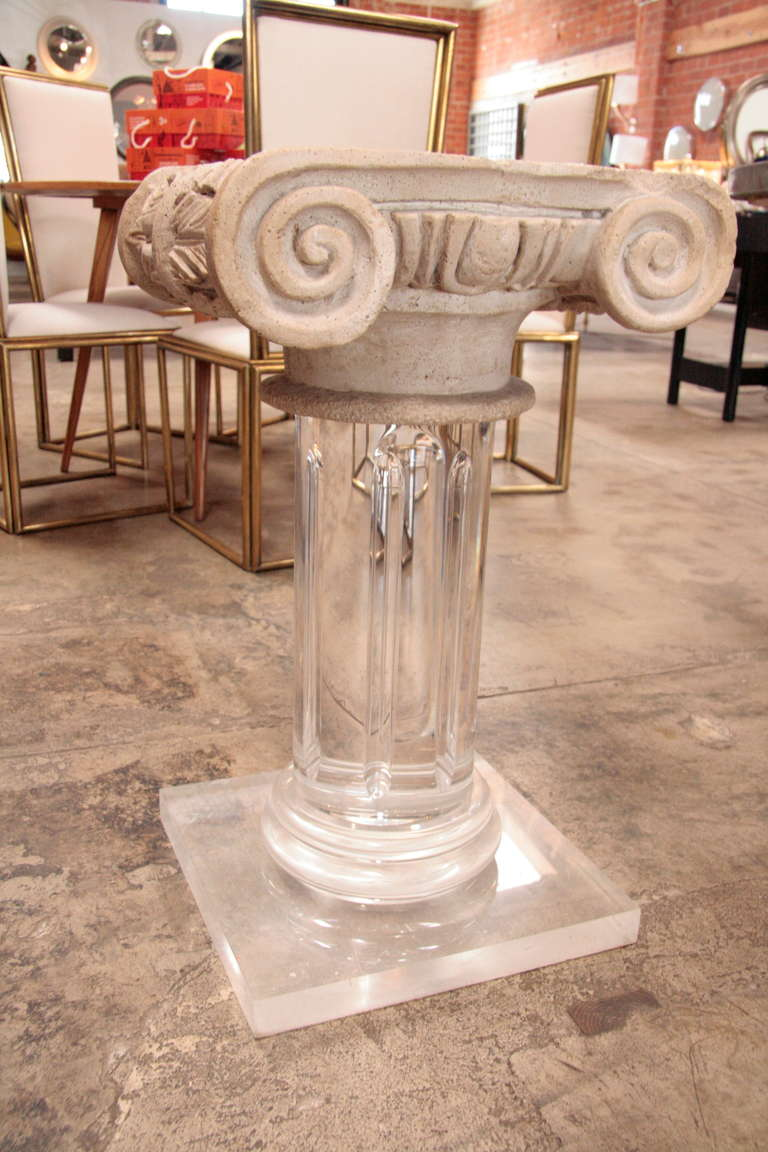18th Century Granite Top Column with Plexi Base For Sale 2