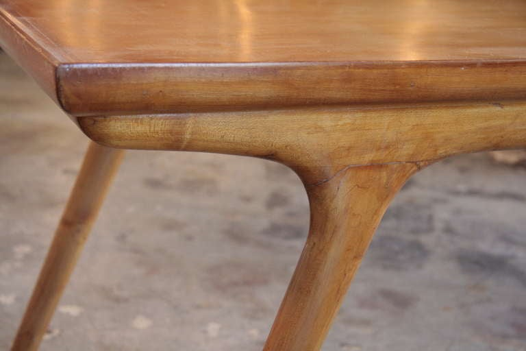 Mid-20th Century Italian 50s Paolo Buffa Wooden Coffee Table For Sale