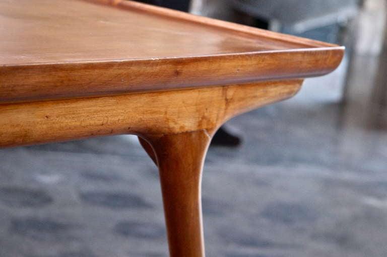 Italian 50s Paolo Buffa Wooden Coffee Table For Sale 1