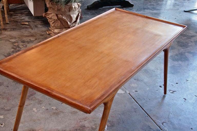 Italian 50s Paolo Buffa Wooden Coffee Table For Sale 2