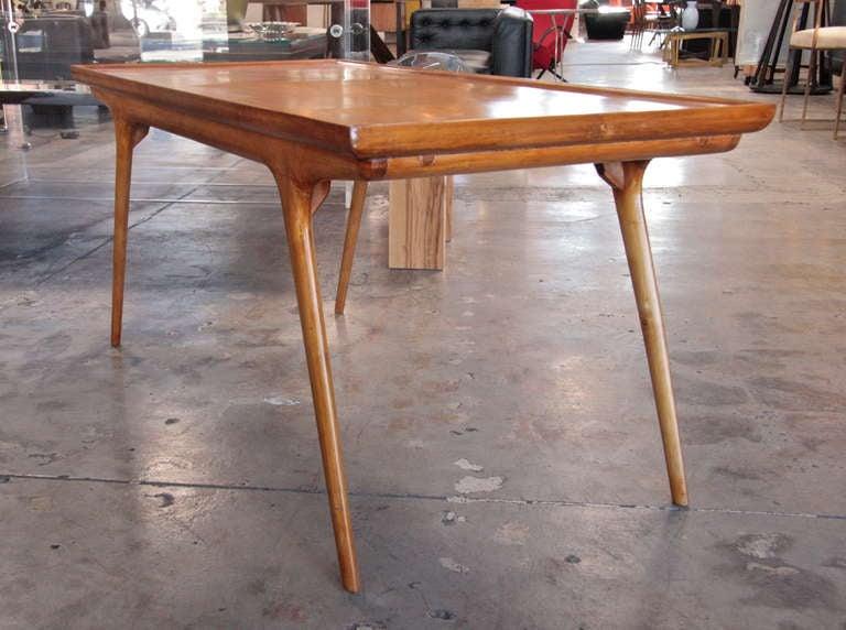 Italian 50s Paolo Buffa Wooden Coffee Table For Sale 4