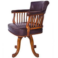 Italian 1920s Office Swivel Chair