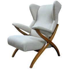 """Franco Albini for Arflex """"Fiorenza Chair, 1952"""" Model PL44"""