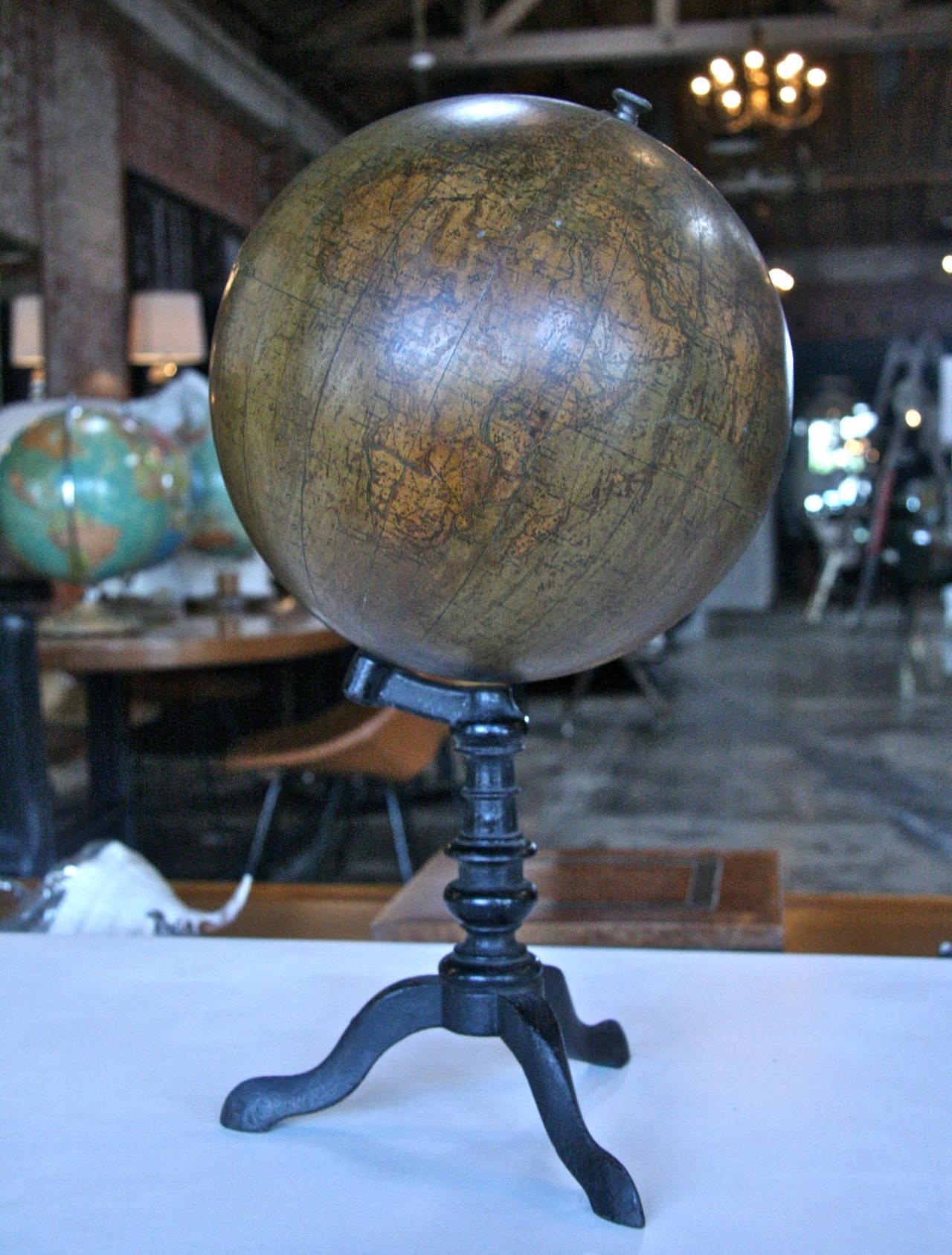 19th Century Italian Ceramic Globe In Good Condition For Sale In Los Angeles, CA