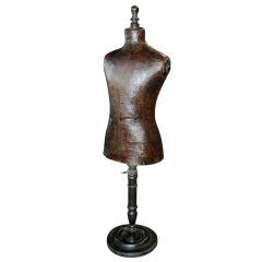 Italian 19th C. Leather Dress Model