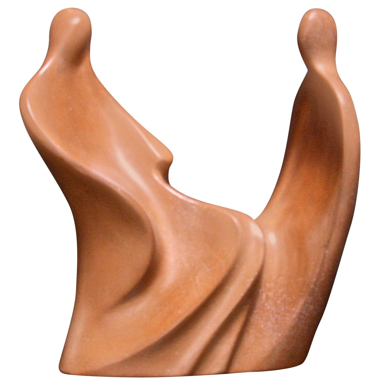 "Italian Sculpture in ""Cotto Lucido"" ""Conversazione"" by Gianni Celati"
