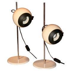 Pair of German 70s Eyeball Lamps