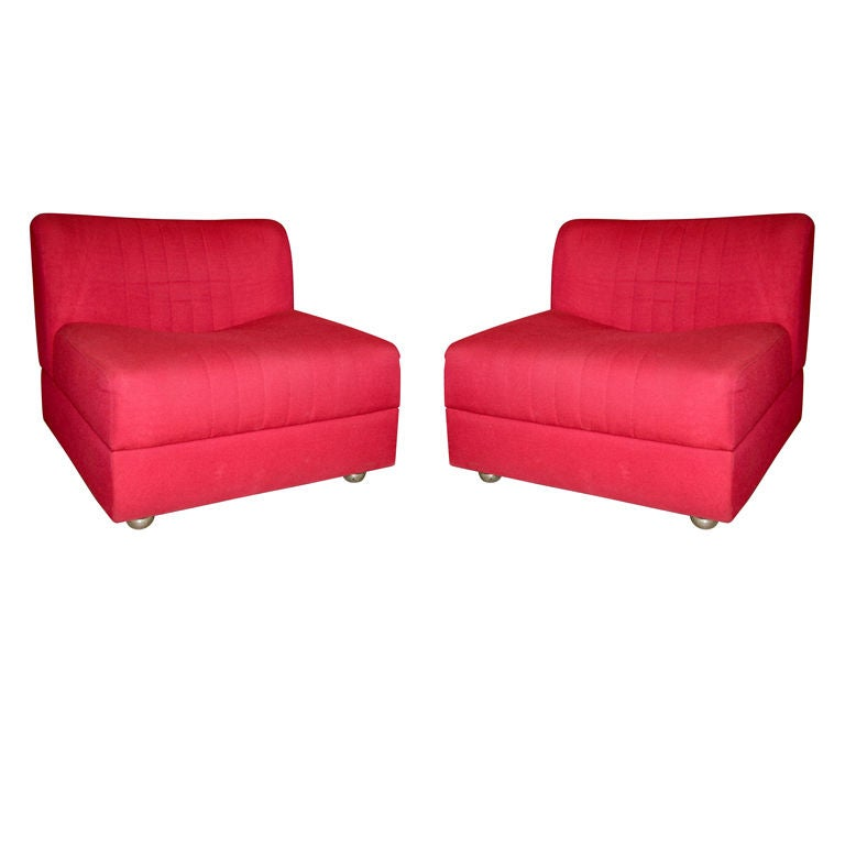 Pair of Italian 70s Lounge Chairs by TECNO at 1stdibs