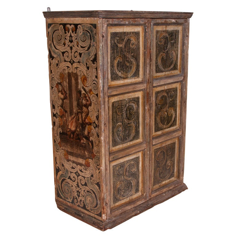 Italian 18th C. Painted Venetian Cabinet