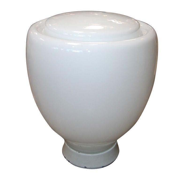 Claudio Salocchi Milk Glass Table Lamp