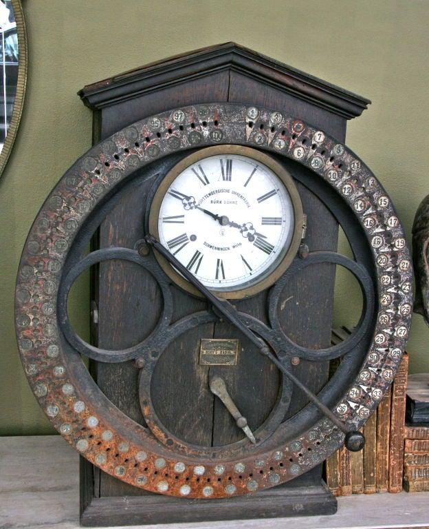 German Punching Clock 1920s 2