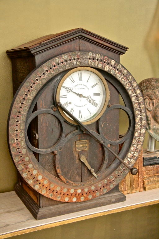 20th Century German Punching Clock 1920s For Sale