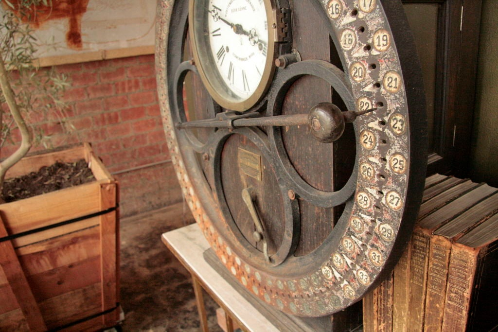 German Punching Clock 1920s For Sale 3