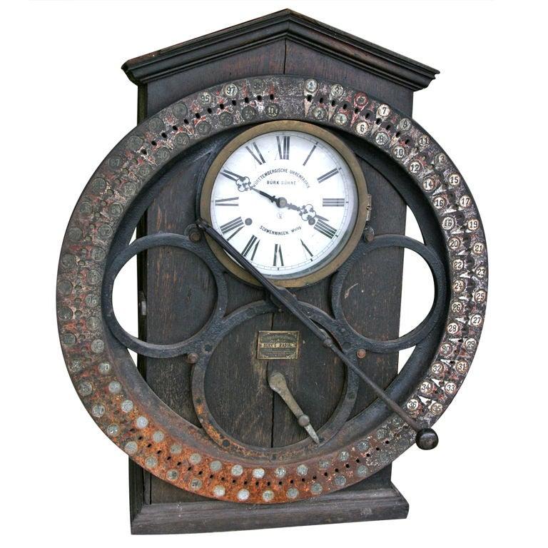 German Punching Clock 1920s 1