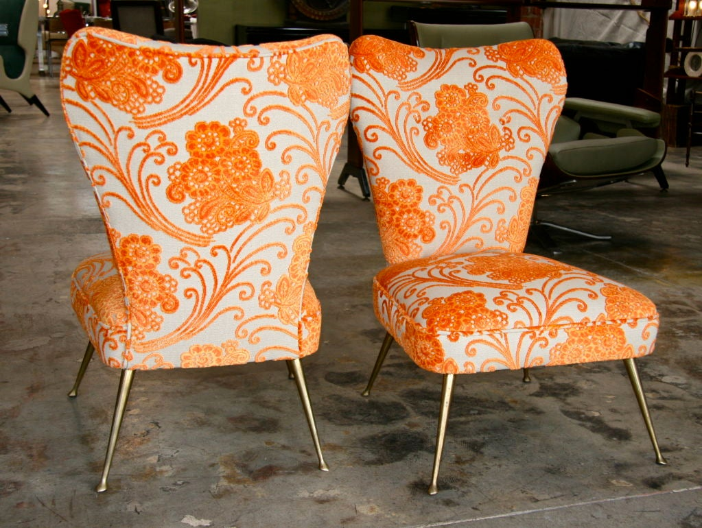 Italian Carlo de Carli Chairs 1950/60 For Sale 1