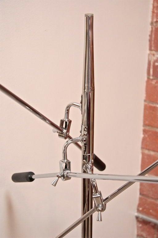 Mid-20th Century Italian 60s Arredoluce 3 Arm Floor Lamp For Sale
