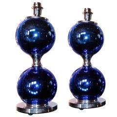 Italian 70s Blue Mercury lamps