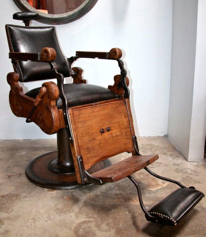 Italian Vintage Barber Chair At 1stdibs