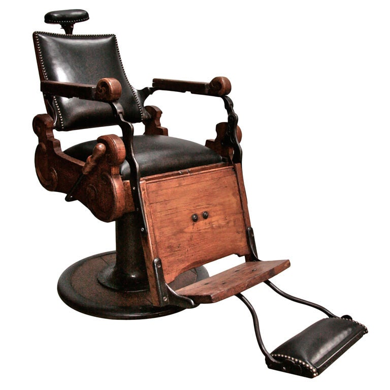 Italian Vintage Barber Chair At 1stdibs