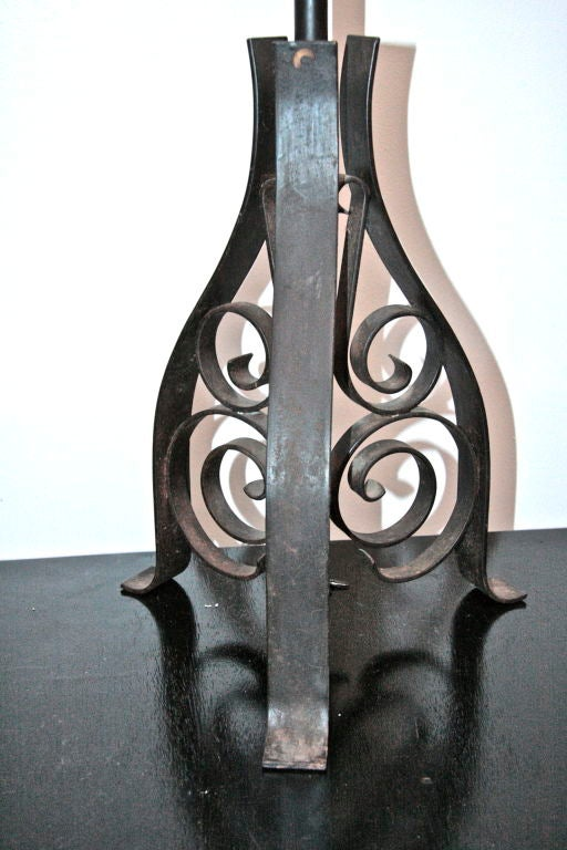 French Iron Floor Lamp For Sale 2