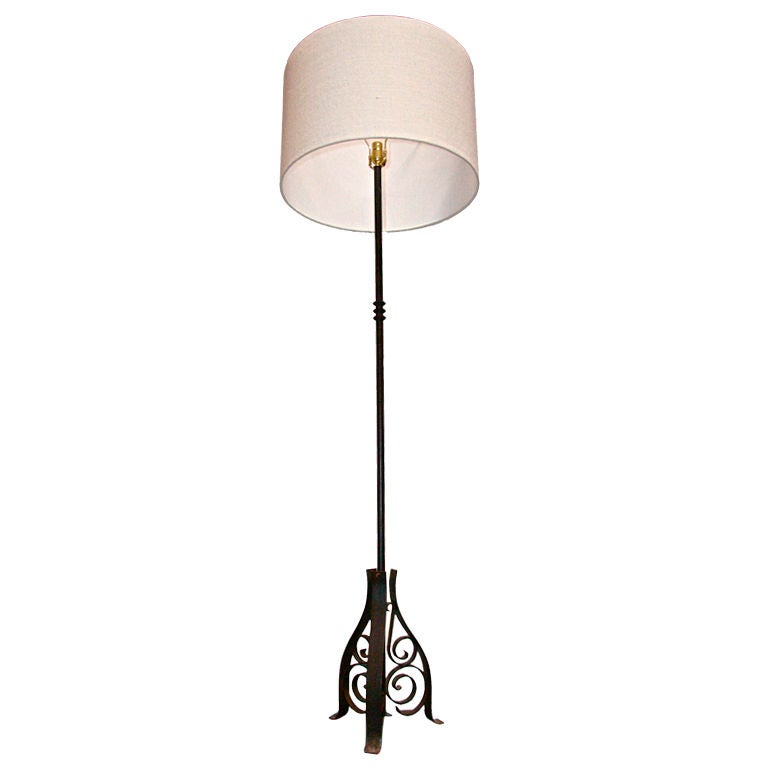 French Iron Floor Lamp For Sale