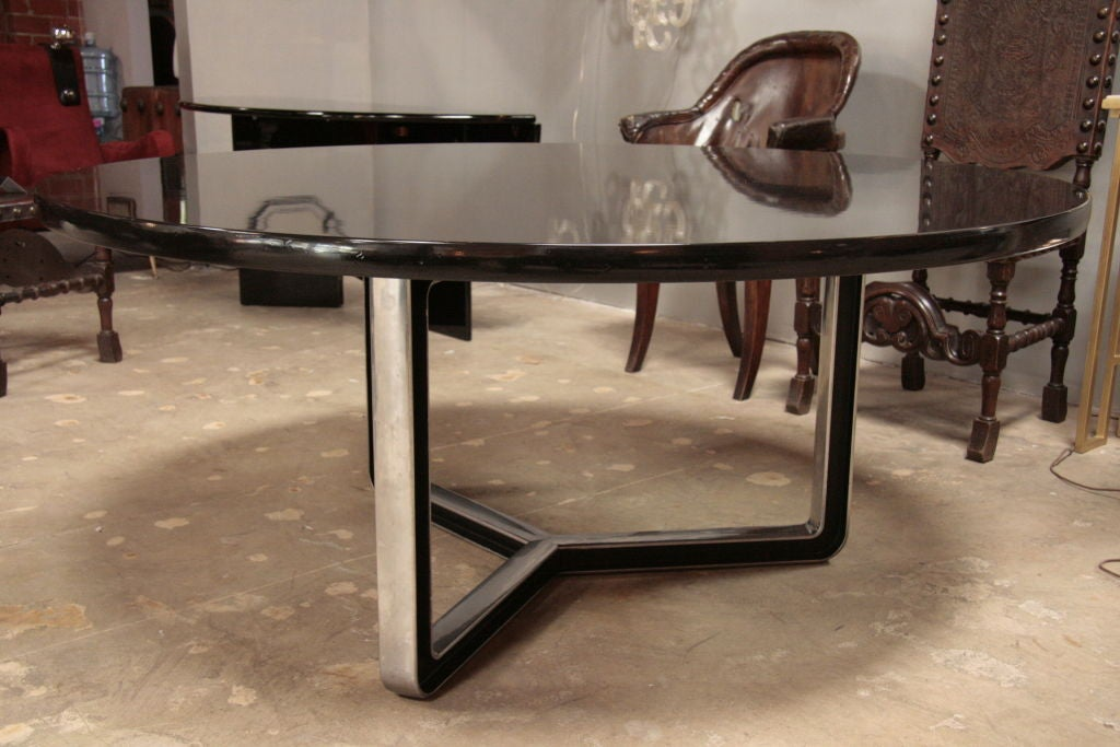 Black Lacquered Tecno Oversized Table 2