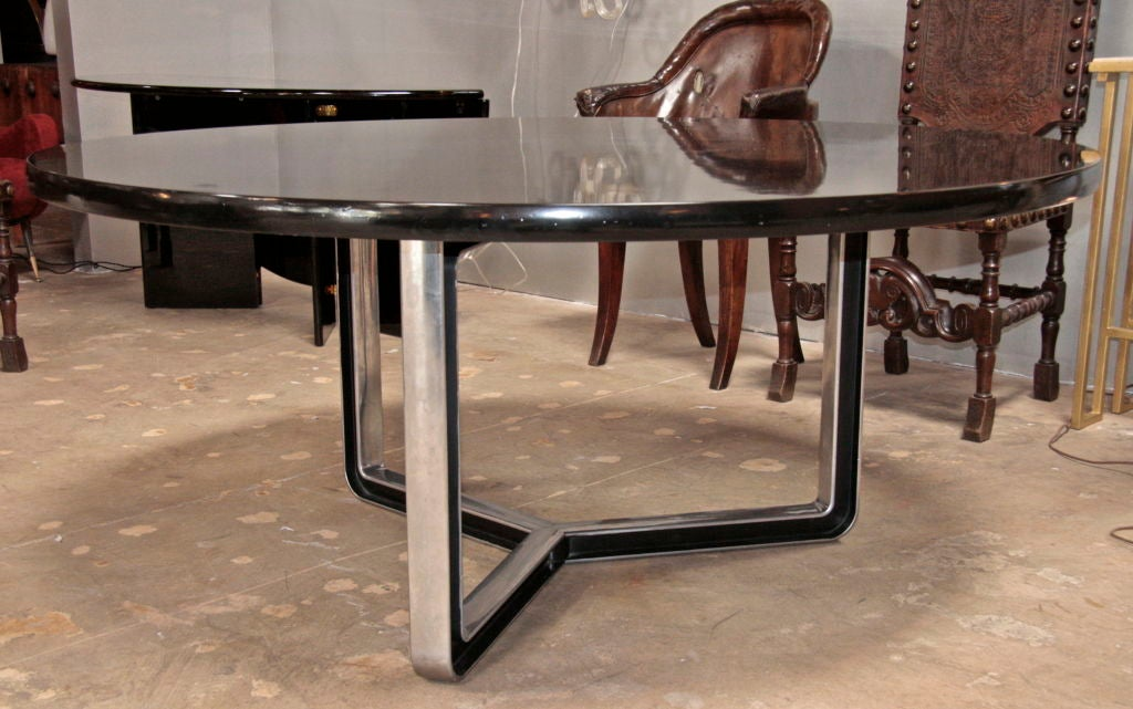 Black Lacquered Tecno Oversized Table 3