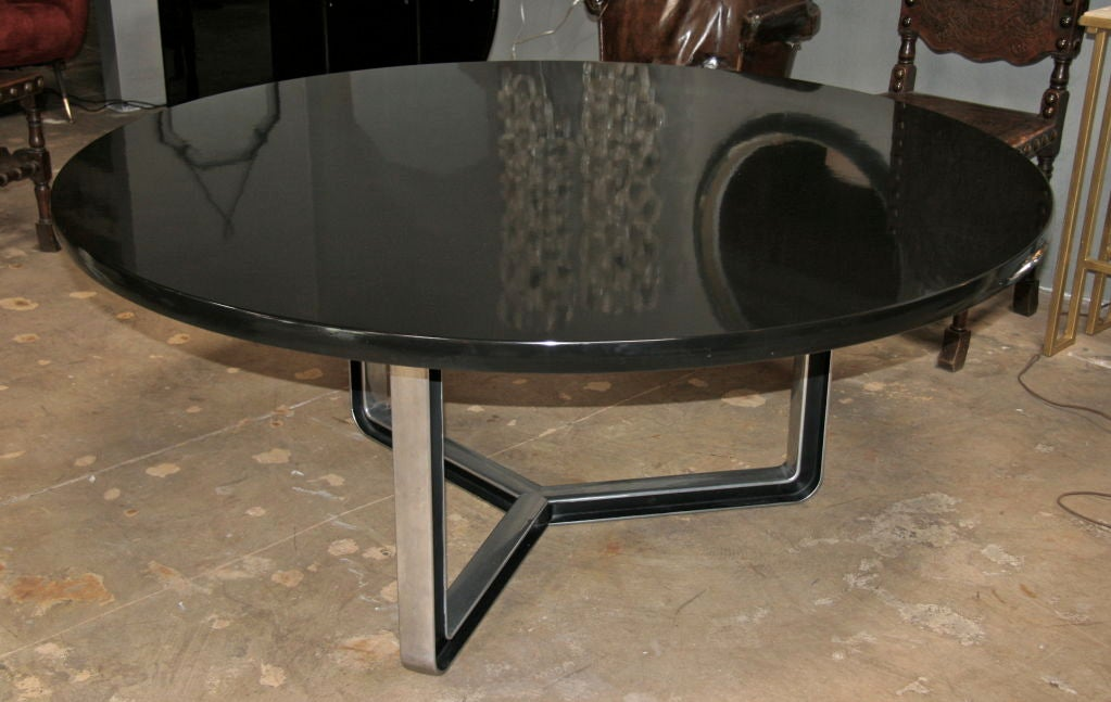 Black Lacquered Tecno Oversized Table 4